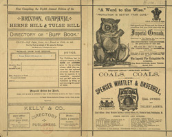 Advert For Kelly's Trade Directory